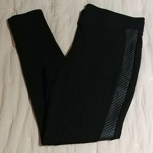Maurice's Faux Leather Strip Jeggings